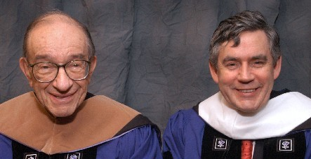 Alan Greenspan  and Gordon Brown