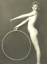 Woman and hoop